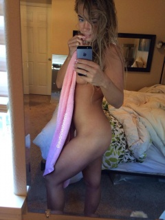 sexy blonde who's fresh from the shower takes a photo of her naked body #sexy #blonde #naked