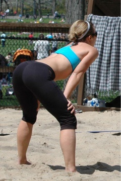sporty babe looking really hot with that round ass #babe #hot #ass