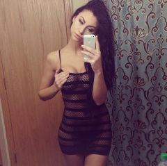 sexy brunette in a fishnet outfit making her body more visible #brunette #fishnet #sexy